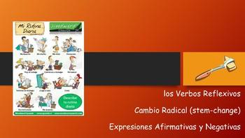 Spanish I Unit- Daily Routine, Reflexive & Stem-Changing Affirmative&Neg Words