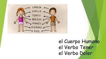 Spanish I Unit- Human Body & Tener & Doler