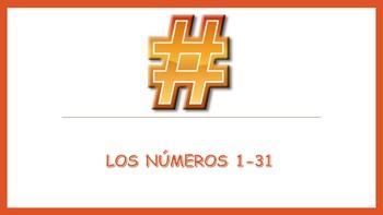Spanish I Unit- Numbers 1-31