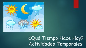 Spanish I Unit- Weather and Seasonal Activities with Stations Activity