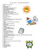 Spanish I Vocabulary Questions Game (Asi Se Dice Chapters Preliminary - 5)