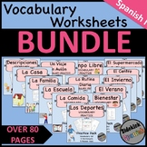 Spanish I Vocabulary Worksheets BUNDLE