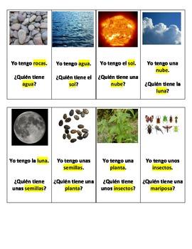 Spanish I have, Who Has? Science Vocabulary (Yo tengo, ¿Quién tiene?)