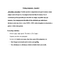 Spanish I or II Writing Assignment - Describing your Friends