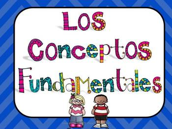 Spanish IB PYP Key Concepts Posters and Activity Editable