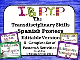 Spanish IB PYP Approaches to Learning Skills Posters Editable