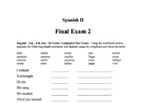 Spanish II Final Exam 2