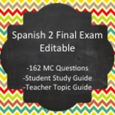 Spanish II - Final Exam Package