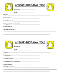 "Spanish II First Day - ""SNAP""Shot (Snap Story) Information Sheet"