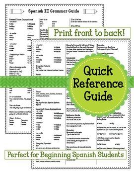 Spanish II Grammar Guide
