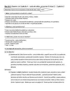 Spanish III lesson plans and materials - Aunténtico Capítulo 2