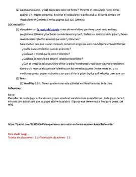 Spanish III lesson plans and materials - Auténtico Capítulo 3