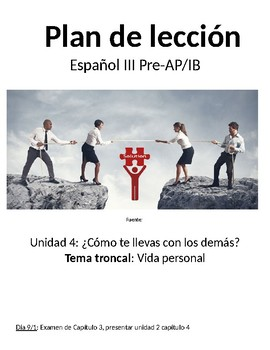 Spanish III lesson plans and materials - Auténtico Capítulo 4