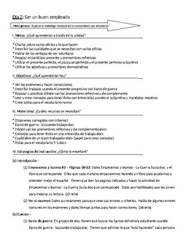 Spanish III lesson plans and materials - Auténtico Capítulo 5