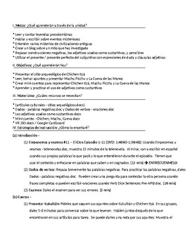 Spanish III lesson plans and materials - Auténtico Capítulo 7
