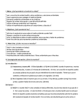 Spanish III lesson plans and materials - Auténtico Capítulo 9