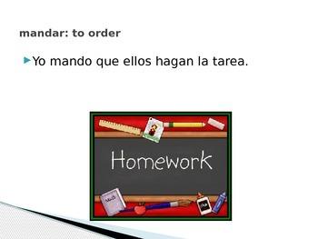 Spanish III/IV: Using the Subjunctive