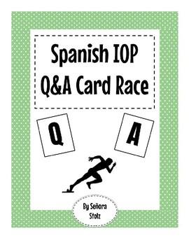 Spanish IOP Q&A Card Race