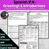 Spanish IPA: Greetings & Introductory Conversation: Intera