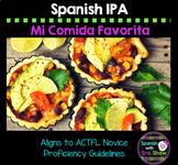 Spanish IPA: La Comida/ Food Avancemos U3L1, 3.1 Assessment