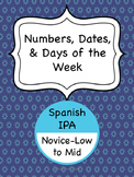 Spanish IPA - Numbers, Dates & Days of the Week