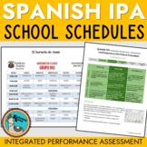 Spanish IPA School Schedules Novice Mid and High