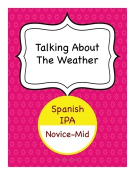Spanish IPA - Talking About the Weather