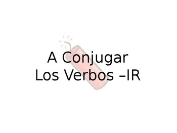 Spanish -IR Conjudgation Guided Notes