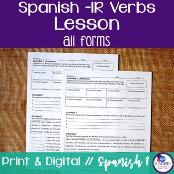 Spanish -IR Verbs Lesson - all forms