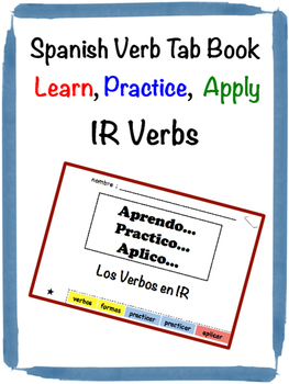 Spanish IR Verbs Tab Book
