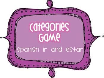 Spanish  IR and ESTAR Categories Game