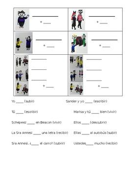 Spanish -IR verb Conjugation Student Note sheet