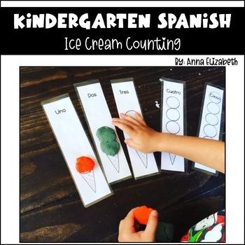 Spanish Ice Cream Counting Numbers 1-5