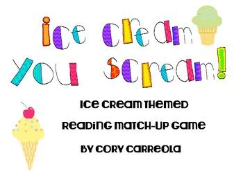 Spanish Ice Cream You Scream Reading Game