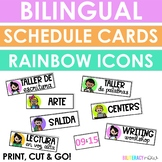Spanish and English Icon Schedule Cards