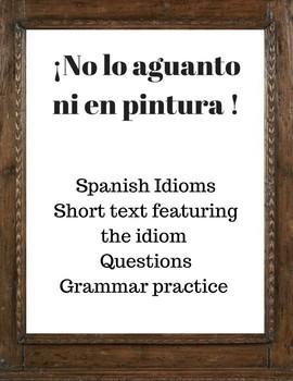 Spanish Idiom- Reading: No aguantar a alguien ni en pintura