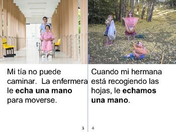 Spanish Idioms / Modismos Guided Reading Book level E - Échale una mano