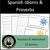 Spanish Idioms and Proverbs PACKET of Activities and Posters