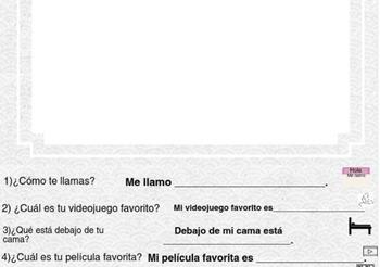 Spanish Imaginary Pet Level 4