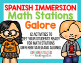 Spanish Immersion Back To School Math Stations