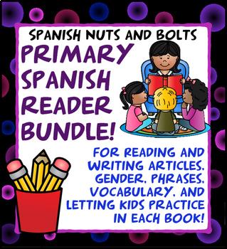 Spanish Early Primary Bundle: 11 Spanish beginner workbook/readers