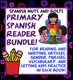 Spanish Early Primary Bundle: 11 Spanish beginner workbook/readers (& a game!)
