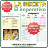 Spanish Imperative Recipe Worksheets - La Receta