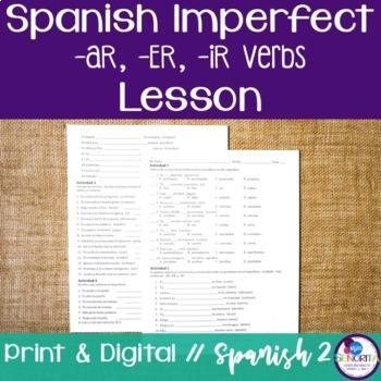Spanish Imperfect -AR, -ER, -IR Verbs Lesson