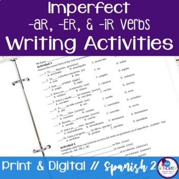 Spanish Imperfect -AR, -ER, -IR Verbs Writing Exercises