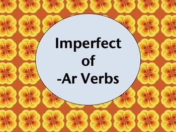 Spanish Imperfect -AR Verbs BUNDLE- PowerPoint, Worksheets Pack, Keynote