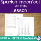 Spanish Imperfect -AR Verbs Lesson