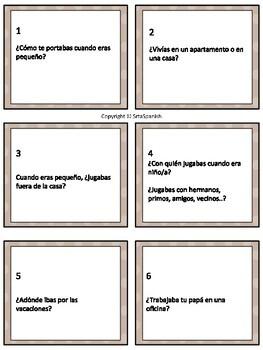 Spanish Imperfect Conversation Cards