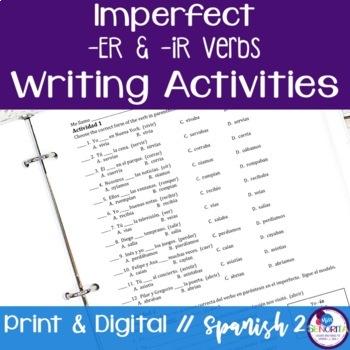 Spanish Imperfect -ER & -IR Verbs Writing Exercises