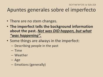 Spanish Imperfect (El imperfecto) Powerpoint PDF